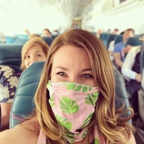 monstera face mask travel