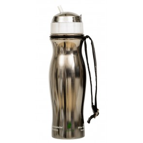 Blue Stainless Steel Bottle with Filter Inside